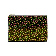 Flowers Roses Floral Flowery Cosmetic Bag (Medium)