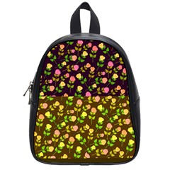 Flowers Roses Floral Flowery School Bags (small)