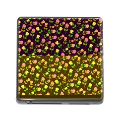 Flowers Roses Floral Flowery Memory Card Reader (square)