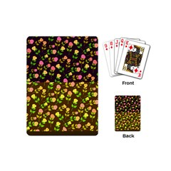 Flowers Roses Floral Flowery Playing Cards (Mini)