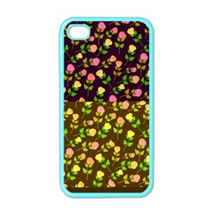 Flowers Roses Floral Flowery Apple Iphone 4 Case (color)