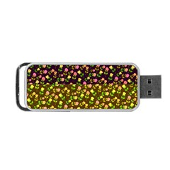 Flowers Roses Floral Flowery Portable Usb Flash (one Side)
