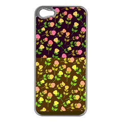 Flowers Roses Floral Flowery Apple Iphone 5 Case (silver)