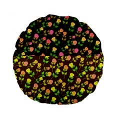 Flowers Roses Floral Flowery Standard 15  Premium Round Cushions