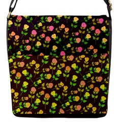 Flowers Roses Floral Flowery Flap Messenger Bag (s)