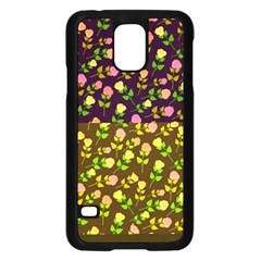 Flowers Roses Floral Flowery Samsung Galaxy S5 Case (black)