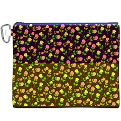 Flowers Roses Floral Flowery Canvas Cosmetic Bag (xxxl)