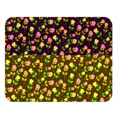 Flowers Roses Floral Flowery Double Sided Flano Blanket (large)