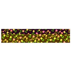 Flowers Roses Floral Flowery Flano Scarf (small)