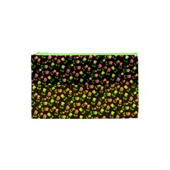 Flowers Roses Floral Flowery Cosmetic Bag (xs)