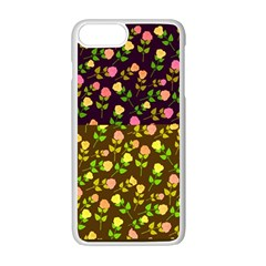 Flowers Roses Floral Flowery Apple Iphone 7 Plus White Seamless Case