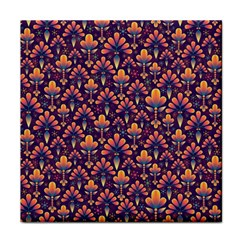 Abstract Background Floral Pattern Tile Coasters