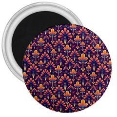 Abstract Background Floral Pattern 3  Magnets