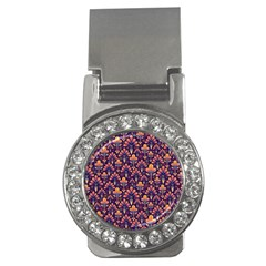 Abstract Background Floral Pattern Money Clips (cz)