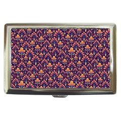 Abstract Background Floral Pattern Cigarette Money Cases
