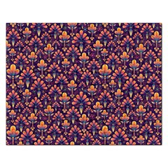 Abstract Background Floral Pattern Rectangular Jigsaw Puzzl