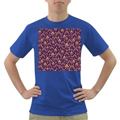Abstract Background Floral Pattern Dark T Shirt