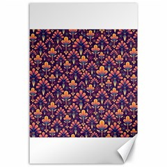 Abstract Background Floral Pattern Canvas 24  X 36