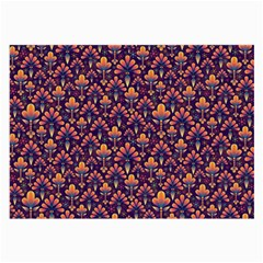 Abstract Background Floral Pattern Large Glasses Cloth (2 Side)
