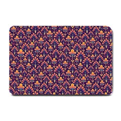 Abstract Background Floral Pattern Small Doormat