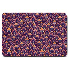 Abstract Background Floral Pattern Large Doormat