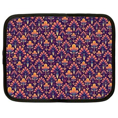 Abstract Background Floral Pattern Netbook Case (Large)