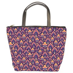 Abstract Background Floral Pattern Bucket Bags