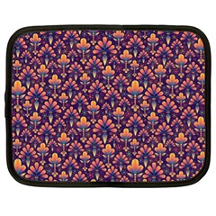 Abstract Background Floral Pattern Netbook Case (XL)