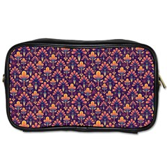 Abstract Background Floral Pattern Toiletries Bags 2 Side