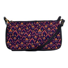 Abstract Background Floral Pattern Shoulder Clutch Bags