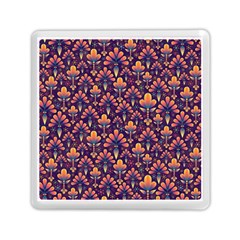 Abstract Background Floral Pattern Memory Card Reader (square)