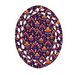 Abstract Background Floral Pattern Ornament (Oval Filigree)