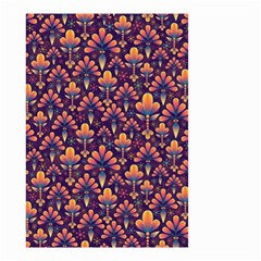 Abstract Background Floral Pattern Small Garden Flag (Two Sides)