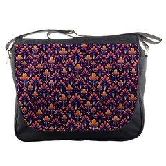 Abstract Background Floral Pattern Messenger Bags