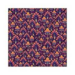 Abstract Background Floral Pattern Acrylic Tangram Puzzle (6  x 6 )