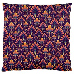 Abstract Background Floral Pattern Large Cushion Case (one Side)