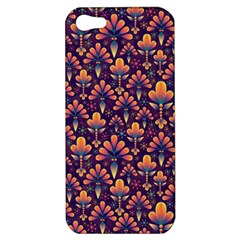 Abstract Background Floral Pattern Apple iPhone 5 Hardshell Case