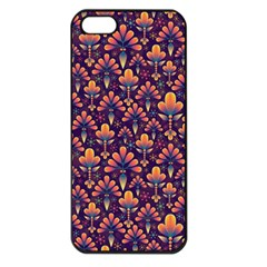 Abstract Background Floral Pattern Apple Iphone 5 Seamless Case (black)