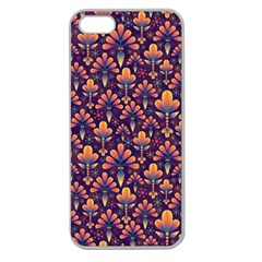 Abstract Background Floral Pattern Apple Seamless Iphone 5 Case (clear)