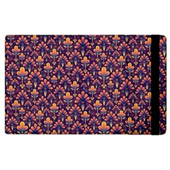 Abstract Background Floral Pattern Apple Ipad 2 Flip Case