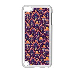 Abstract Background Floral Pattern Apple Ipod Touch 5 Case (white)