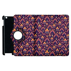 Abstract Background Floral Pattern Apple Ipad 3/4 Flip 360 Case