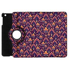 Abstract Background Floral Pattern Apple Ipad Mini Flip 360 Case
