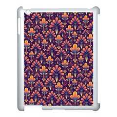 Abstract Background Floral Pattern Apple Ipad 3/4 Case (white)