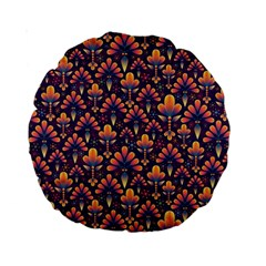 Abstract Background Floral Pattern Standard 15  Premium Round Cushions