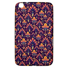 Abstract Background Floral Pattern Samsung Galaxy Tab 3 (8 ) T3100 Hardshell Case