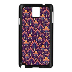Abstract Background Floral Pattern Samsung Galaxy Note 3 N9005 Case (Black)