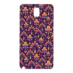 Abstract Background Floral Pattern Samsung Galaxy Note 3 N9005 Hardshell Back Case