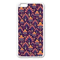 Abstract Background Floral Pattern Apple Iphone 6 Plus/6s Plus Enamel White Case