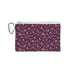 Abstract Background Floral Pattern Canvas Cosmetic Bag (s)